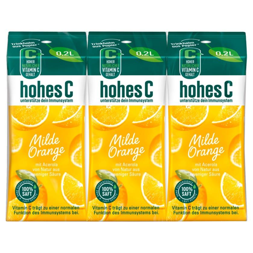 Hohes C Milde Orange 3x0,2l