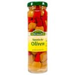 Feinkost Dittmann Spanische grüne Oliven gefüllt mit Piri-Piri 90g