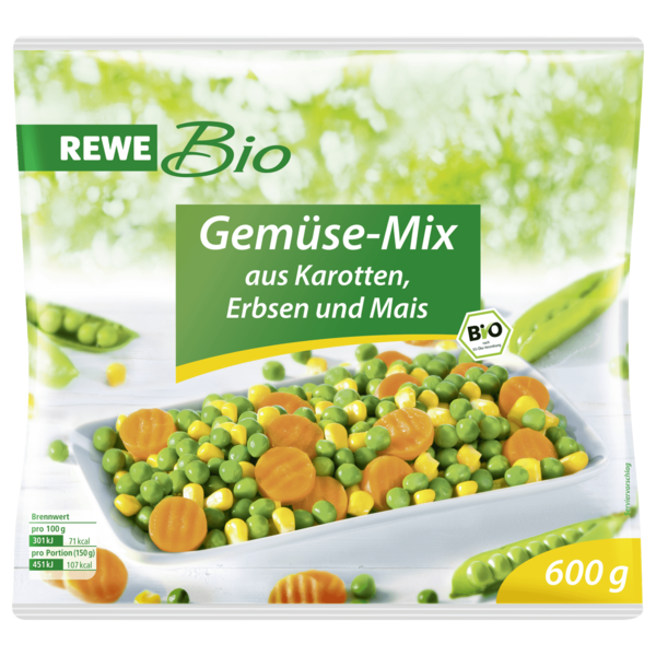 REWE Bio Gemüse-Mix 600g