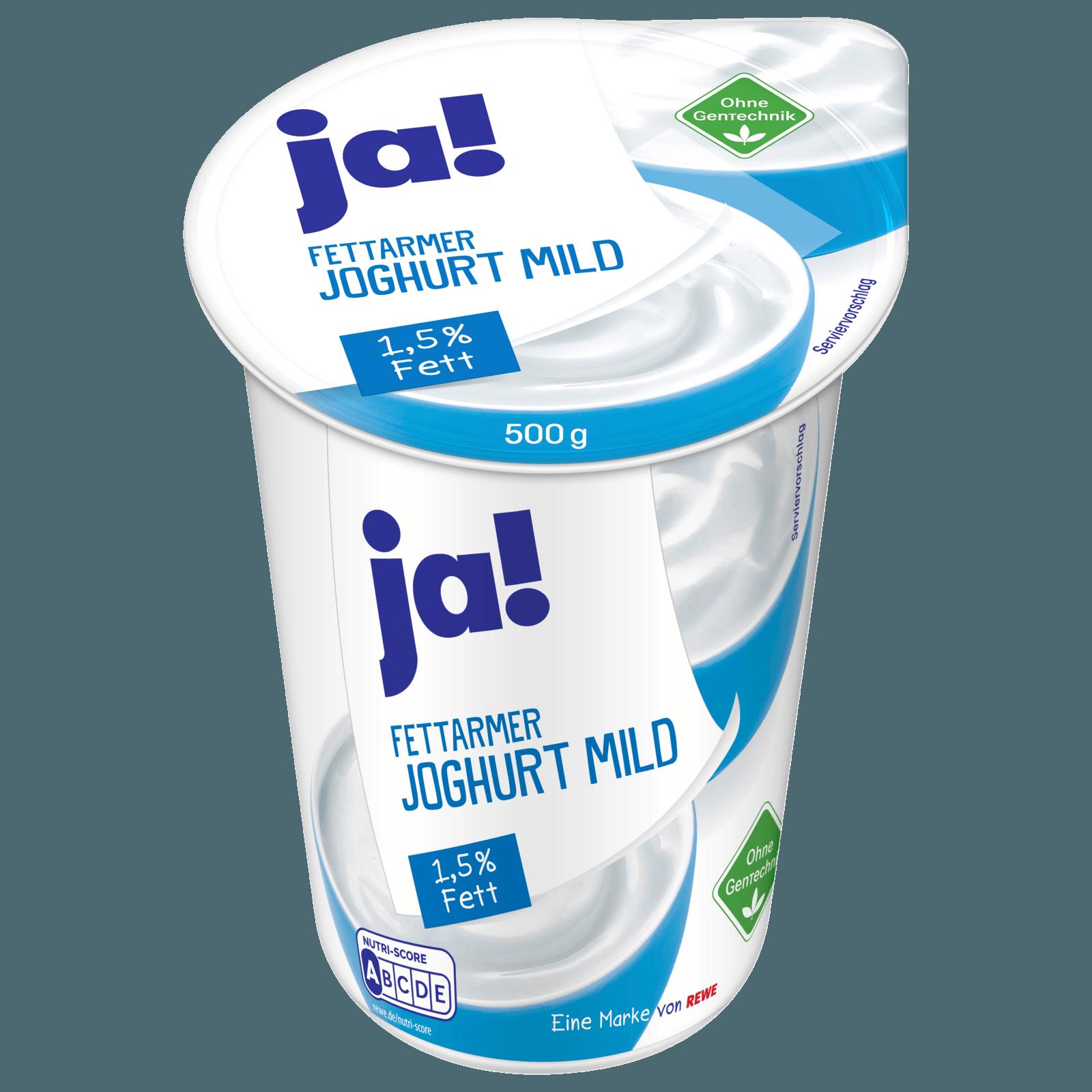 ja! Fettarmer Joghurt mild 1,5% Fett 500g