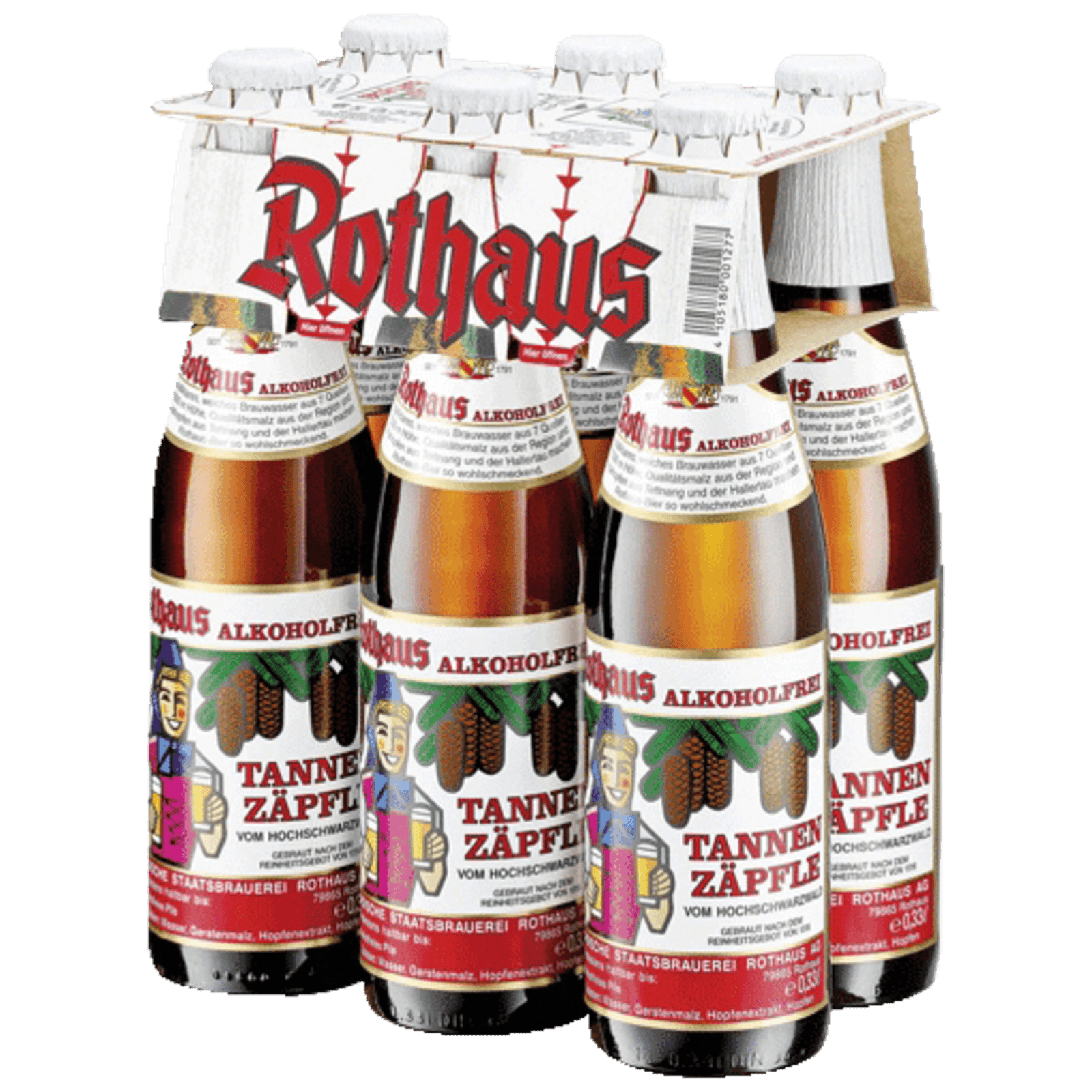 Rothaus Zäpfle Alkoholfrei 6x0,33l