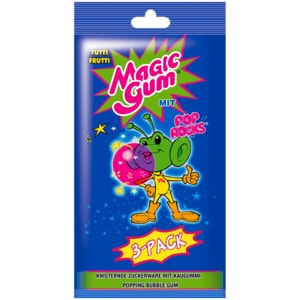 Tutti Frutti Magic Gum 3er Pack, 21g