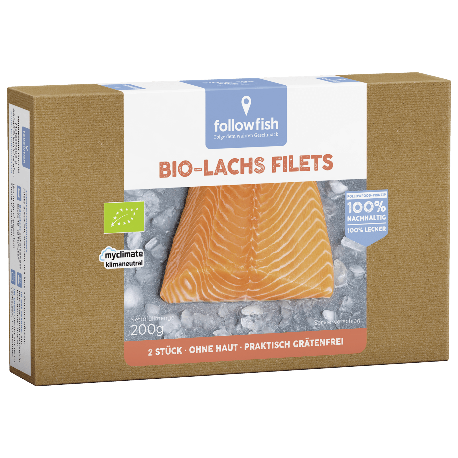 followfish Bio Lachs Filets 200g SALMO SALAR / TIEFGEKÜHLT