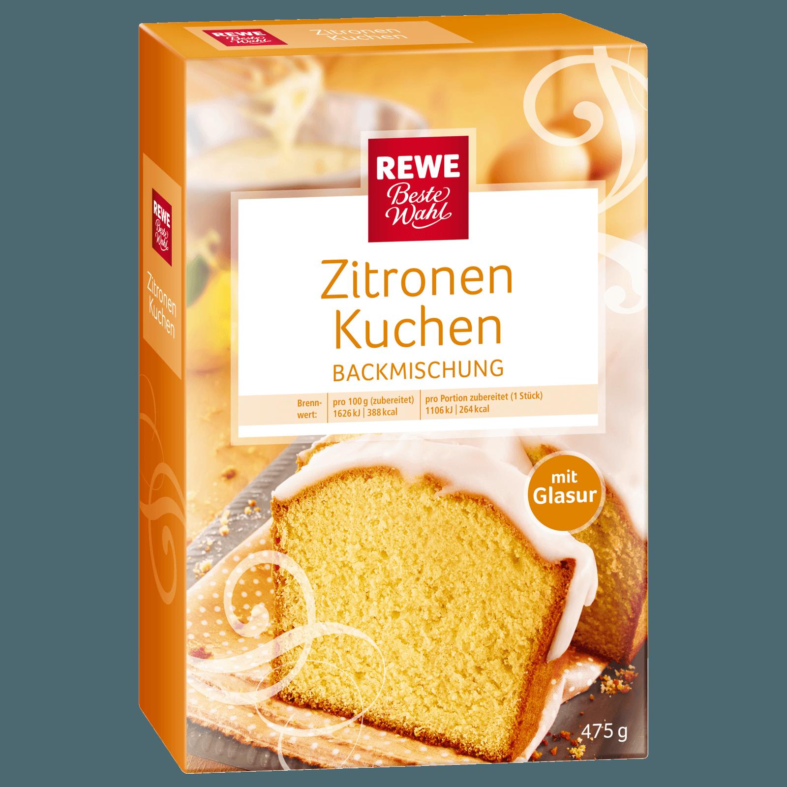 Rewe Beste Wahl Zitronenkuchen Backmischung 475g Bei Rewe Online