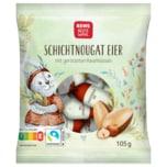 REWE Beste Wahl Ostern Schichtnougat-Eier 105g