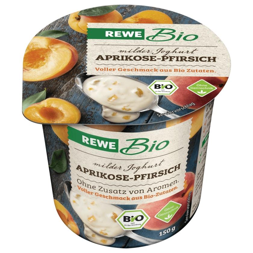 REWE Bio Joghurt mild Aprikose-Pfirsich 150g