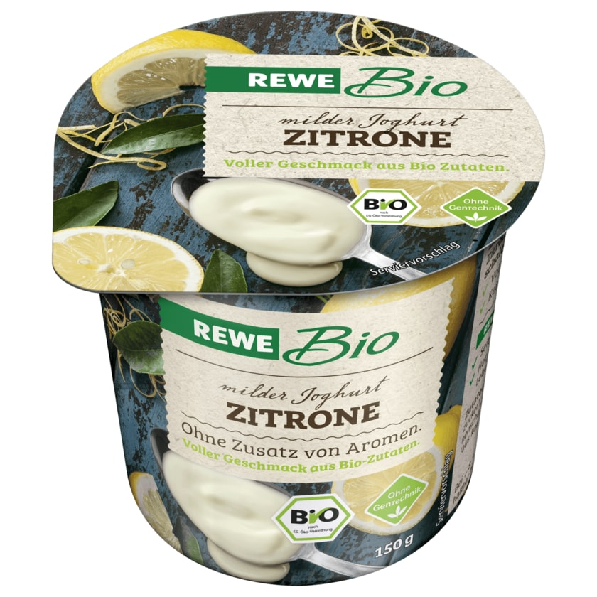 REWE Bio Joghurt mild Zitrone 150g