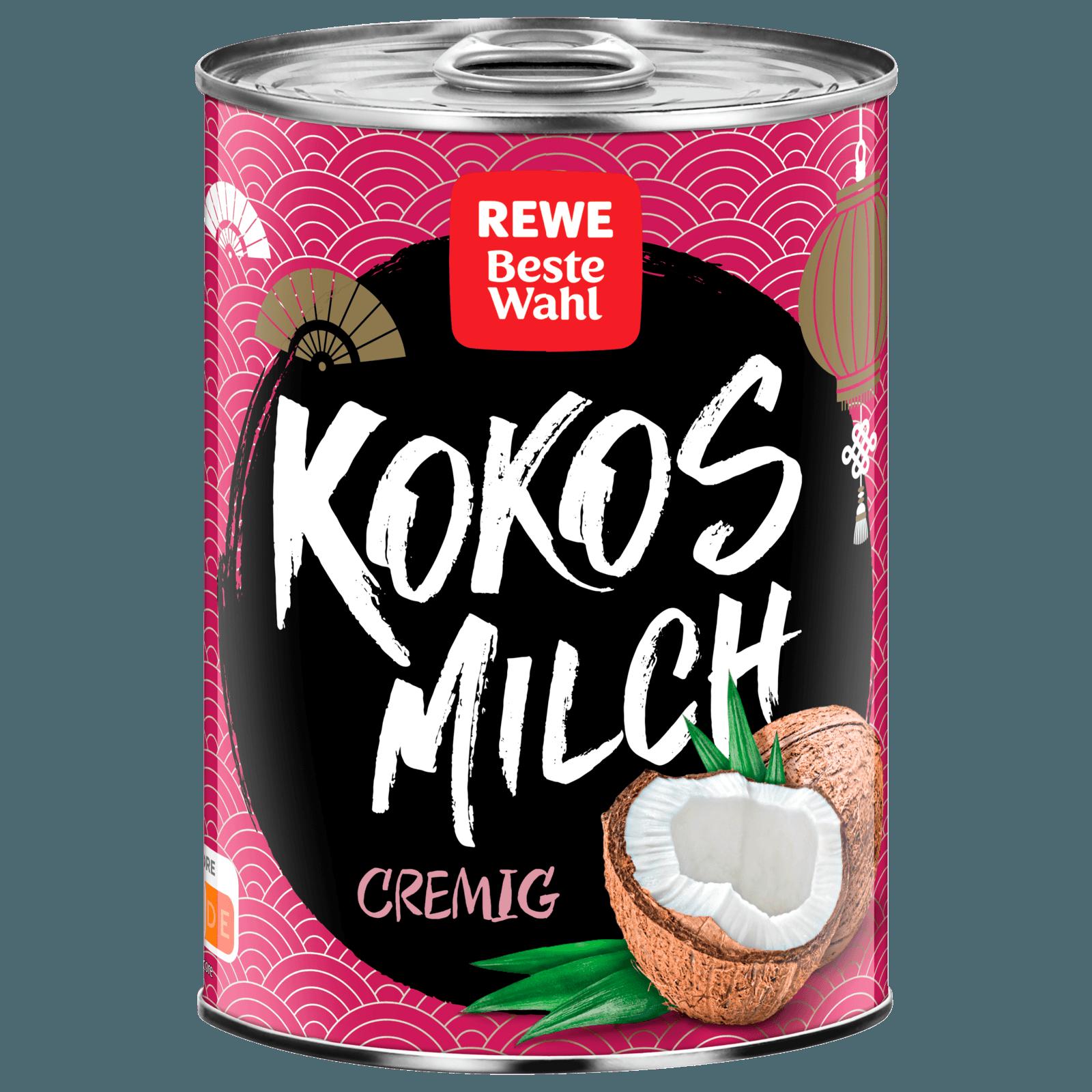 Rewe Beste Wahl Kokosmilch Cremig 400ml Bei Rewe Online Bestellen
