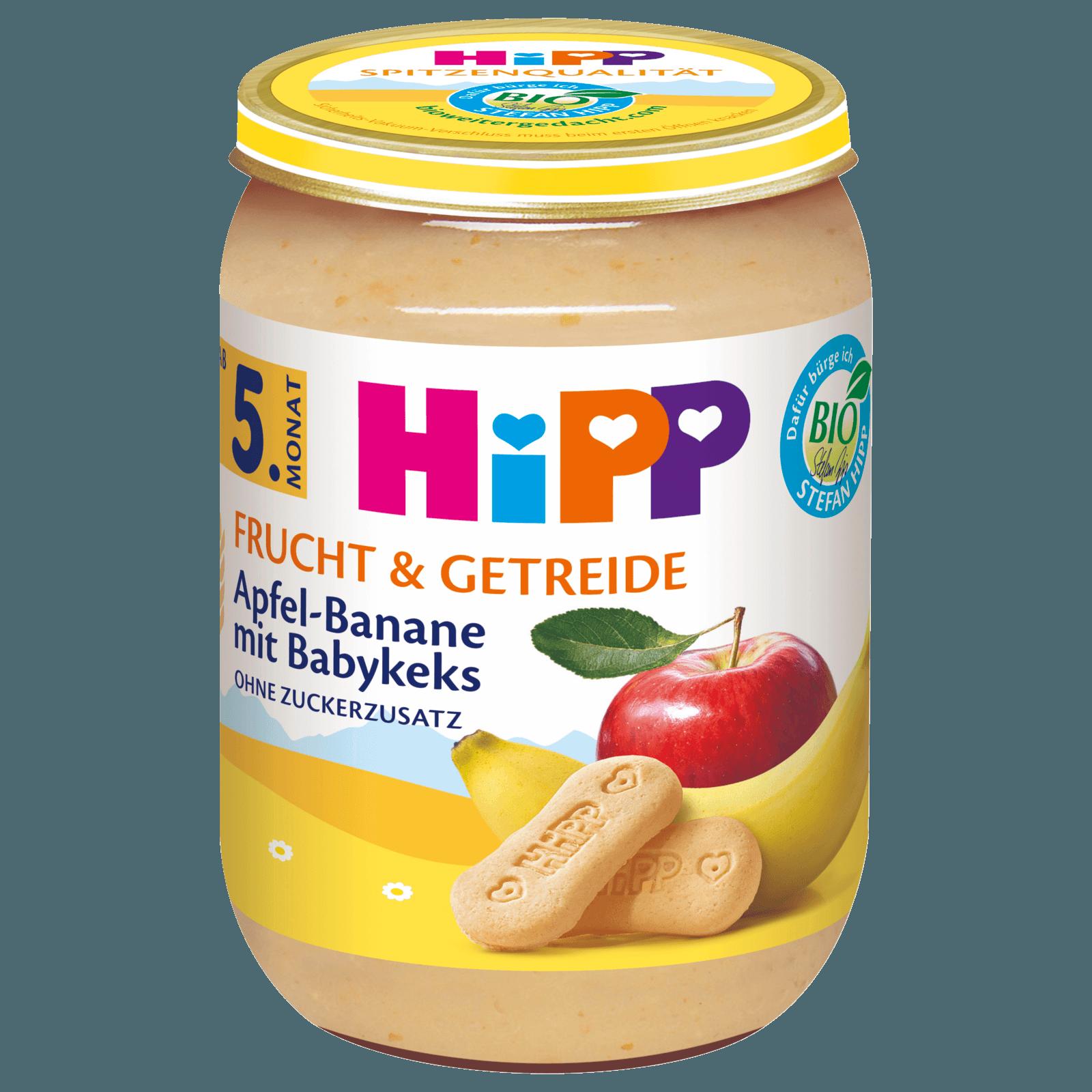 Hipp Frucht & Getreide Apfel-Banane mit Babykeks 190g