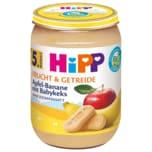 Hipp Bio Frucht & Getreide Apfel-Banane mit Babykeks 190g