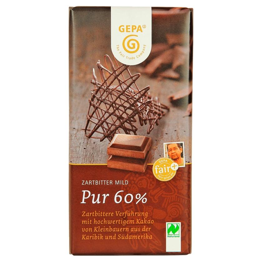 Gepa Bio Schokolade Zartbitter mild pur 60% 100g