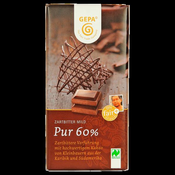 Gepa Bio Zartbitter mild pur 60% 100g