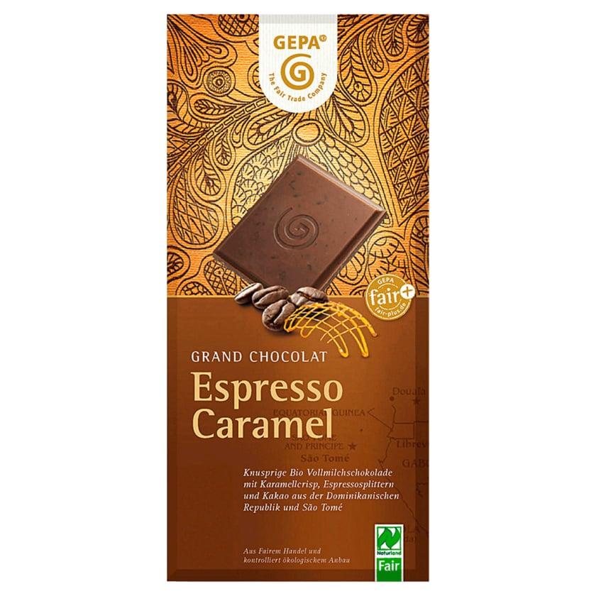 Gepa Bio Schokolade Espresso Caramel 38% Cacao 100g