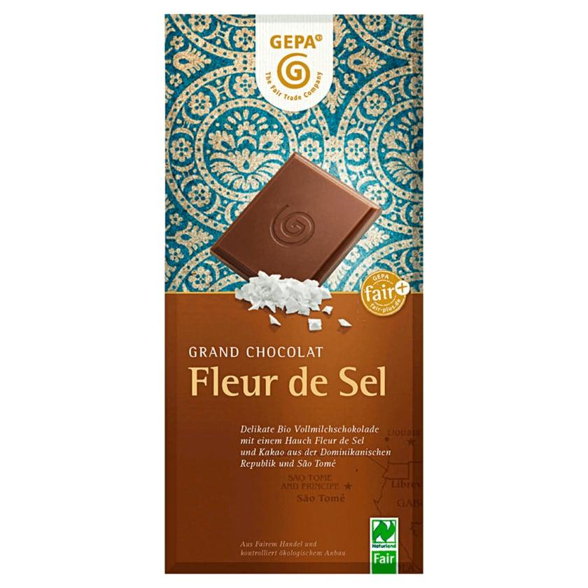 Gepa Bio Vollmilchschokolade Fleur de Sel 100g