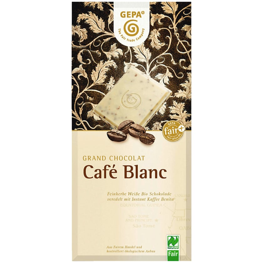 Gepa Bio Schokolade Café Blanc 100g