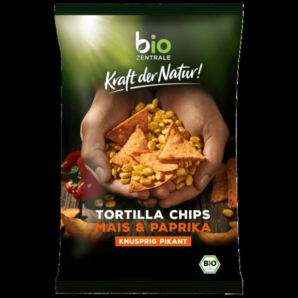 Bio Zentrale Tortilla-Chips Paprika 125g