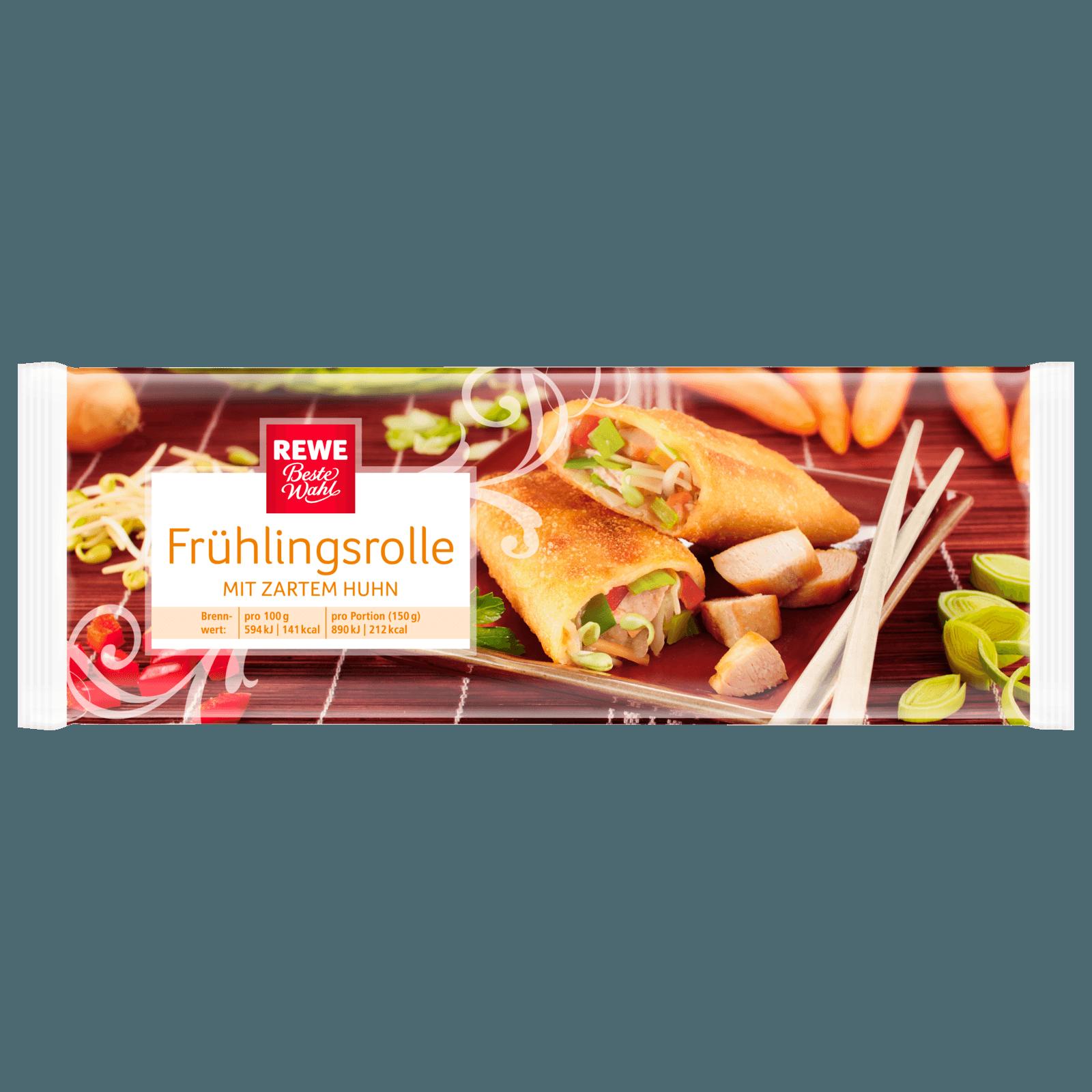 REWE Beste Wahl Frühlingsrolle mit zartem Huhn 150g
