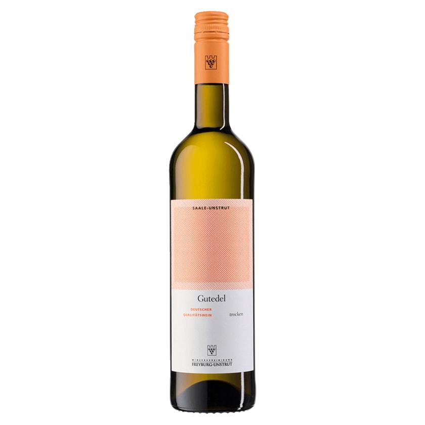 Freyburg-Unstrut Weißwein Gutedel QbA trocken 0,75 l