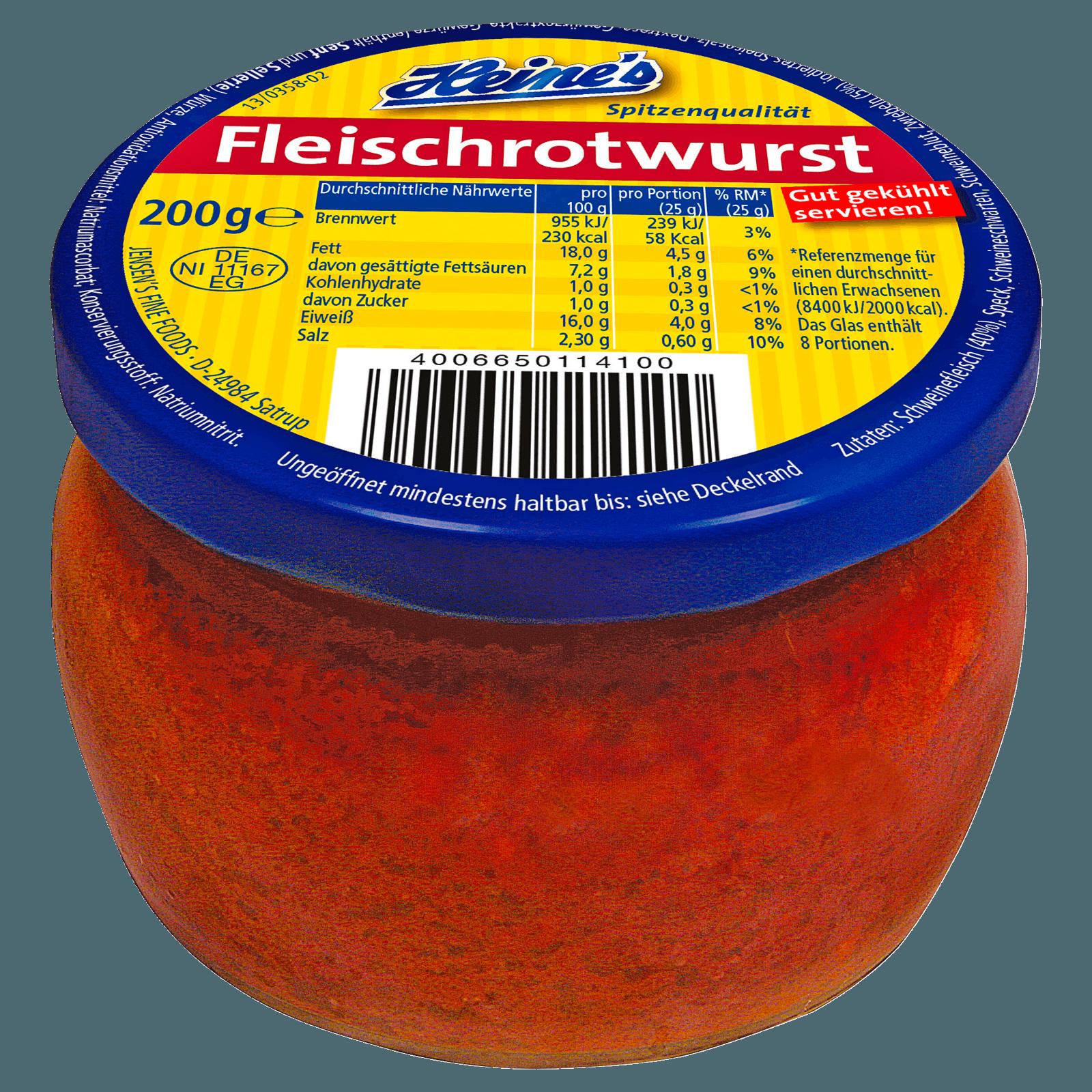 Heine's Fleischrotwurst 200g