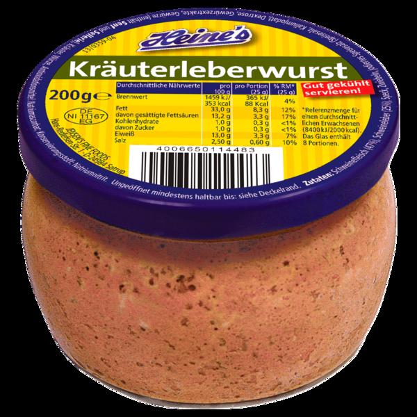 Heine's Kräuterleberwurst 200g