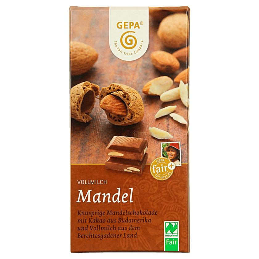 Gepa Bio Vollmilchschokolade Ganze Mandel 100g