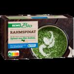 REWE Bio Rahmspinat tiefgefroren 450g