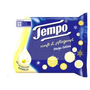 Tempo Feuchte Toilettentücher sanft & pflegend mit Kamille 42 Stück