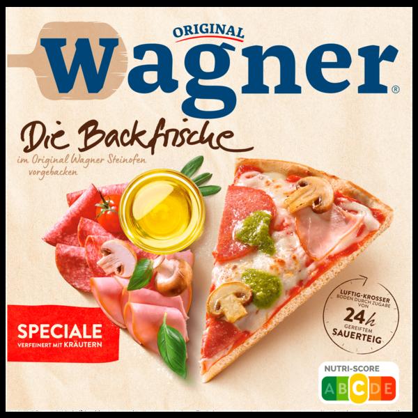 Original Wagner Die Backfrische Pizza Speciale mit Frühlingskräuter-Pesto 360g