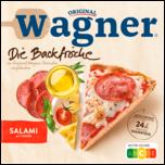 Original Wagner Die Backfrische Pizza Salami mit 3 Käse & Kräutern Tiefgekühlt 320g
