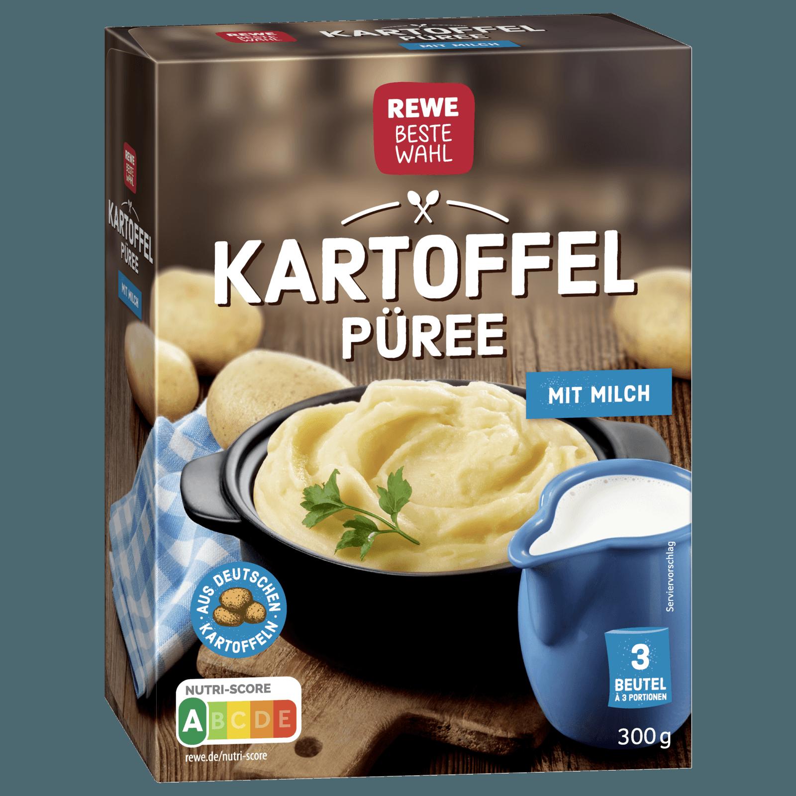 Rewe Beste Wahl Kartoffelpuree Komplett Mit Milch 300g Bei Rewe Online Bestellen