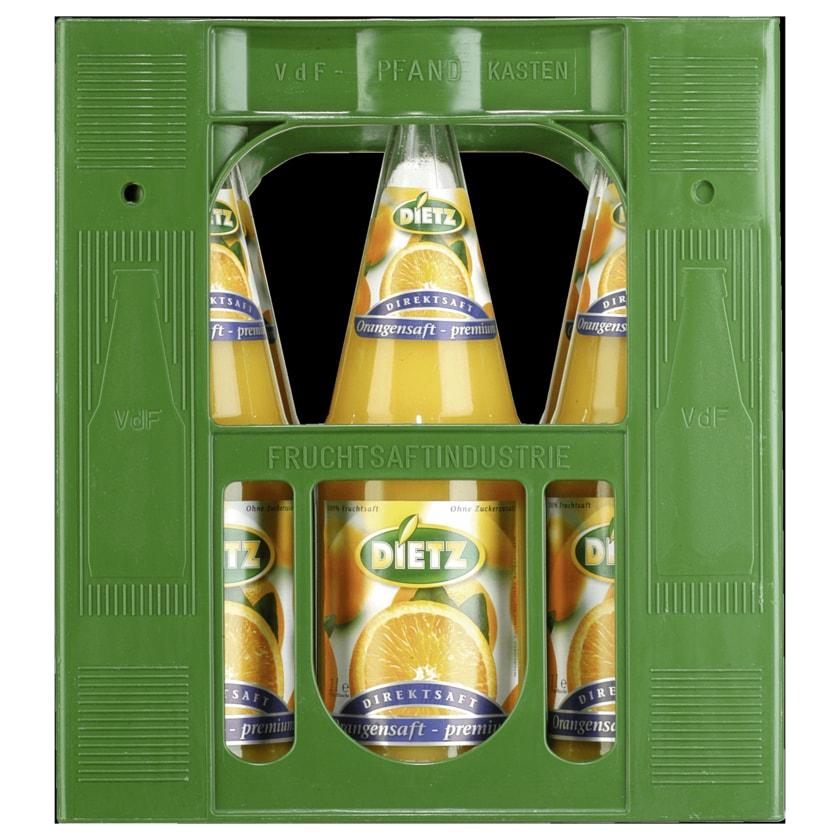 Dietz Orangensaft Premium 6x1,0l