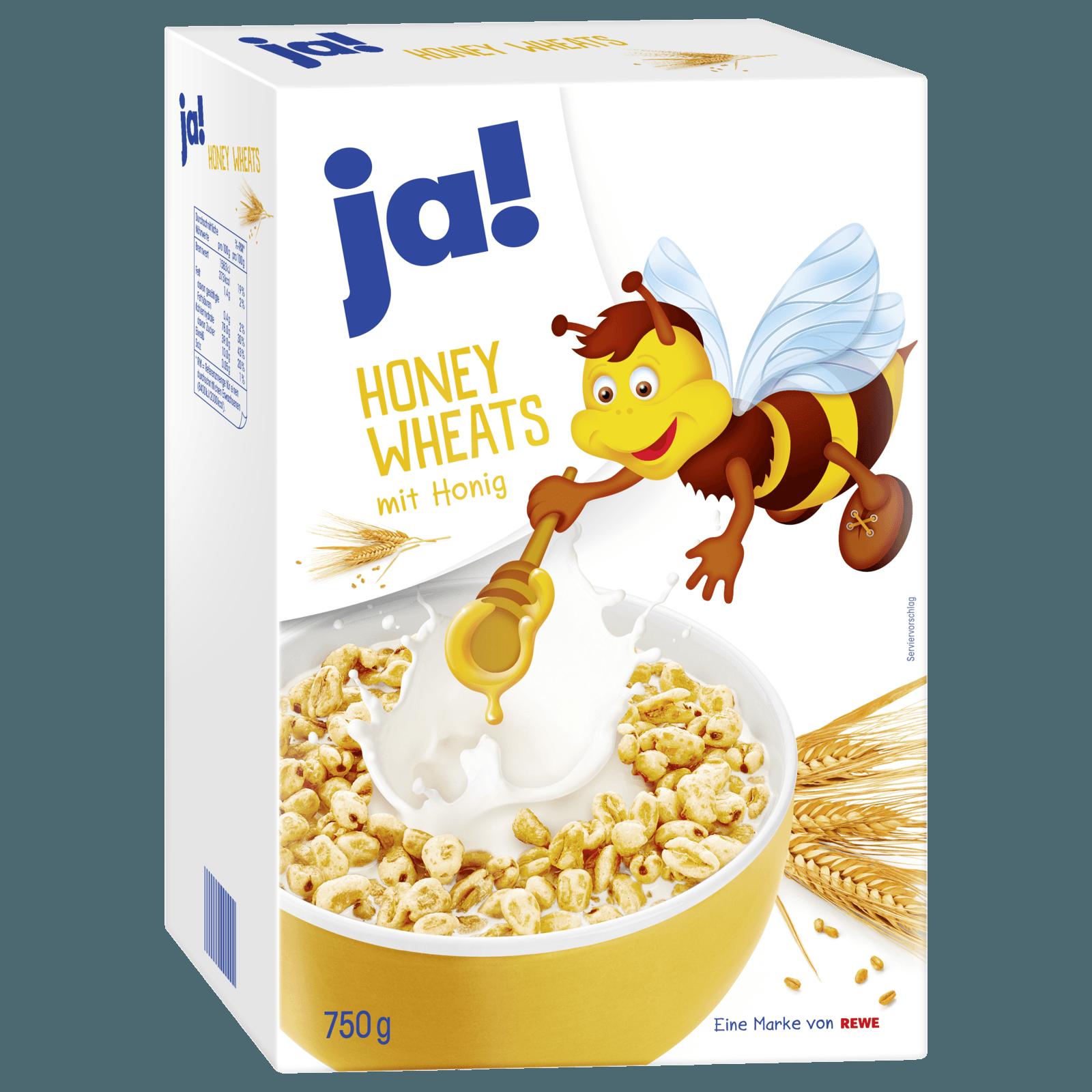 Gepuffter Weizen mit Honig