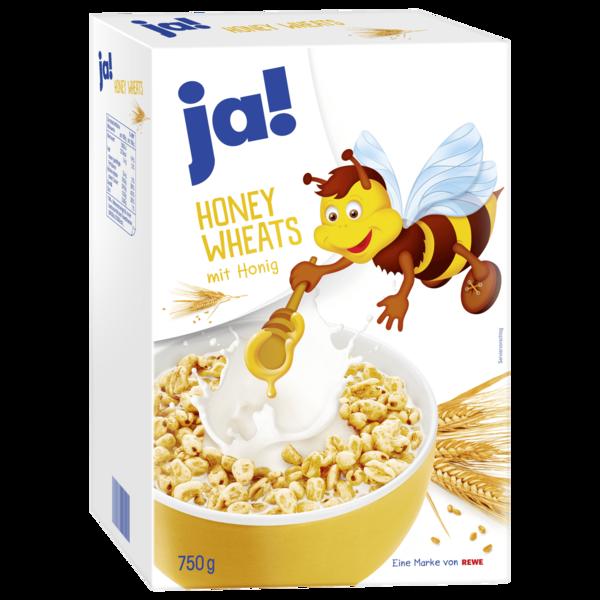 Gepuffter Weizen mit Honig.