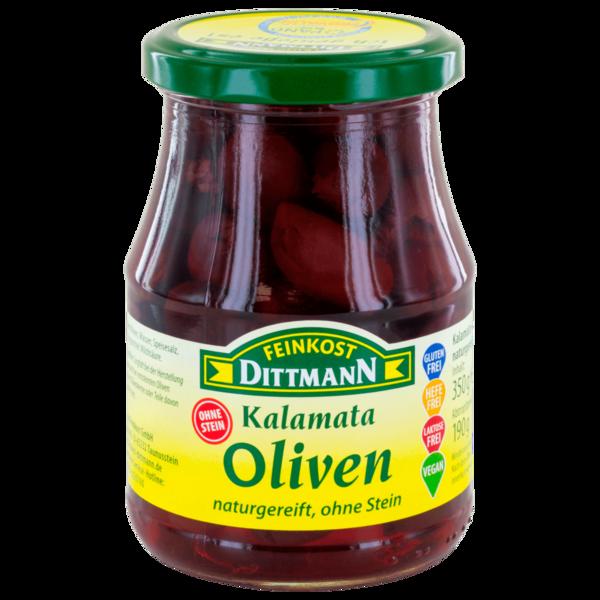 Dittmann schwarze Kalamata Oliven 370ml