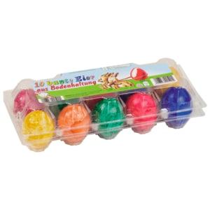 Bunte Eier aus Bodenhaltung 10 Stück