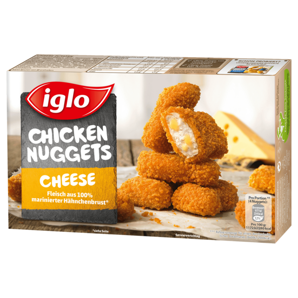 iglo 12 Gold Nuggets Cheese 250g