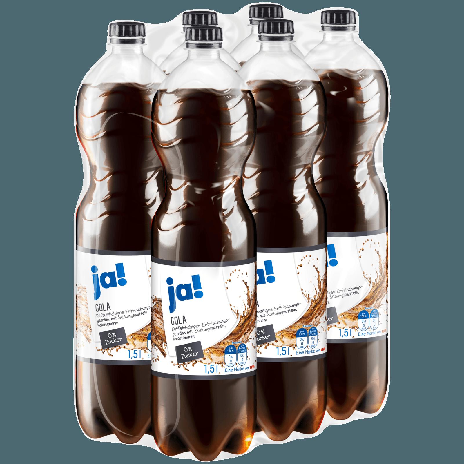 ja! Cola ohne Zucker 6x1,5l bei REWE online bestellen!