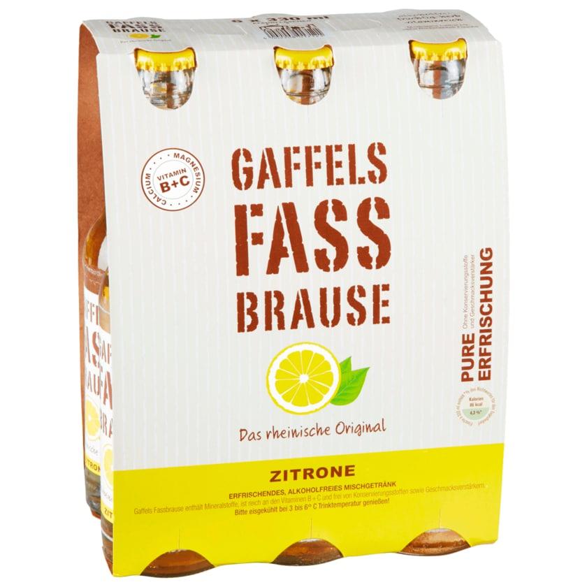 Gaffels Fassbrause Zitrone 6x0,33l