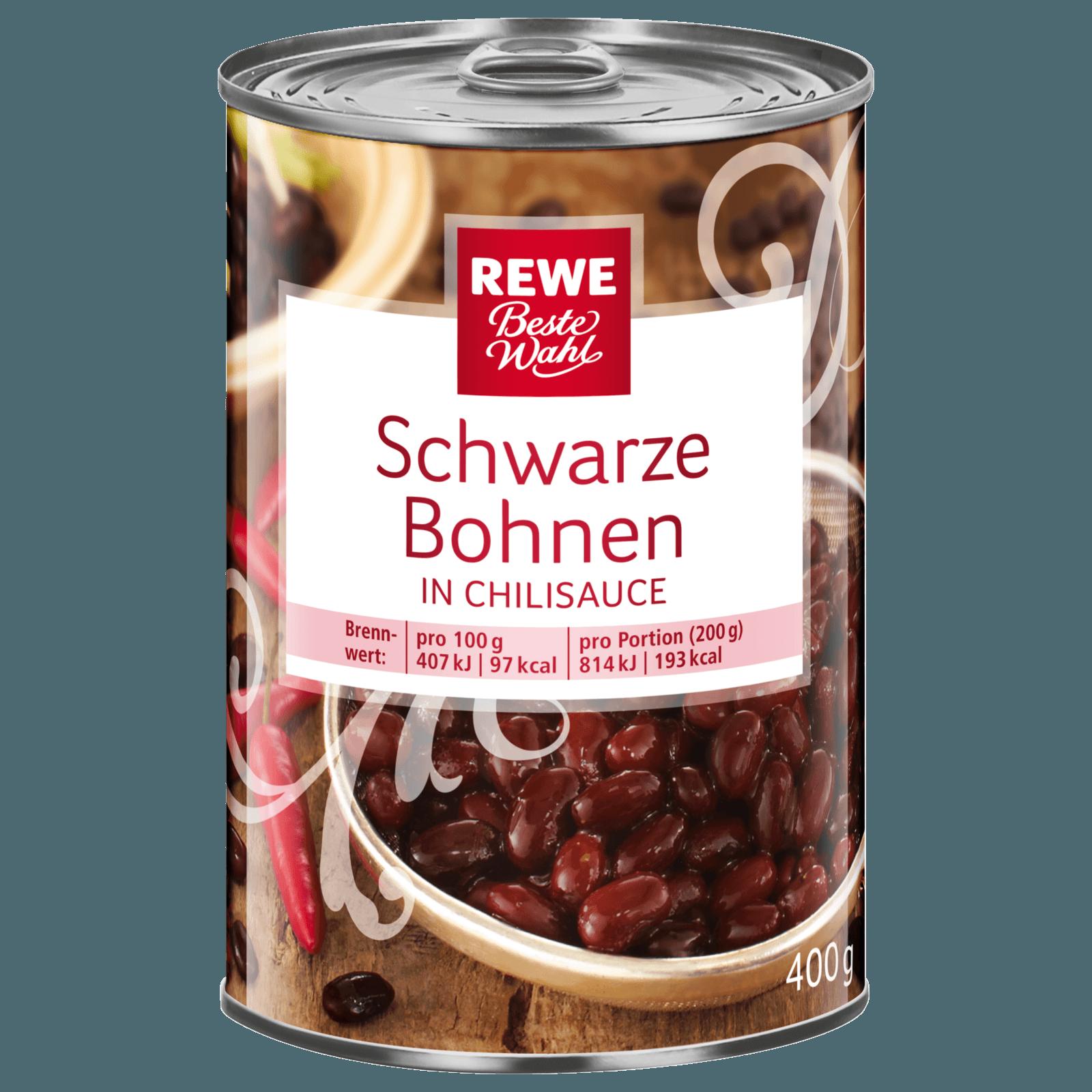 REWE Beste Wahl Schwarze Bohnen in Chilisauce 400g
