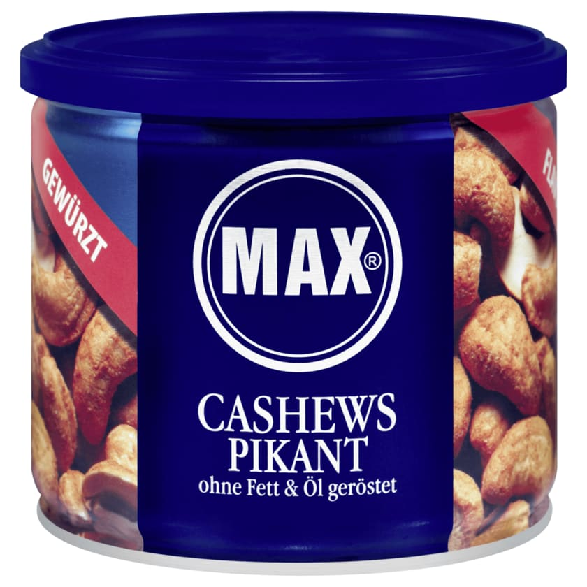 Max Cashews pikant ohne Fett & Öl geröstet 150g
