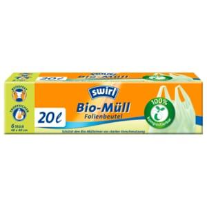 Swirl Bio-Müll-Folienbeutel 20l, 6 Stück