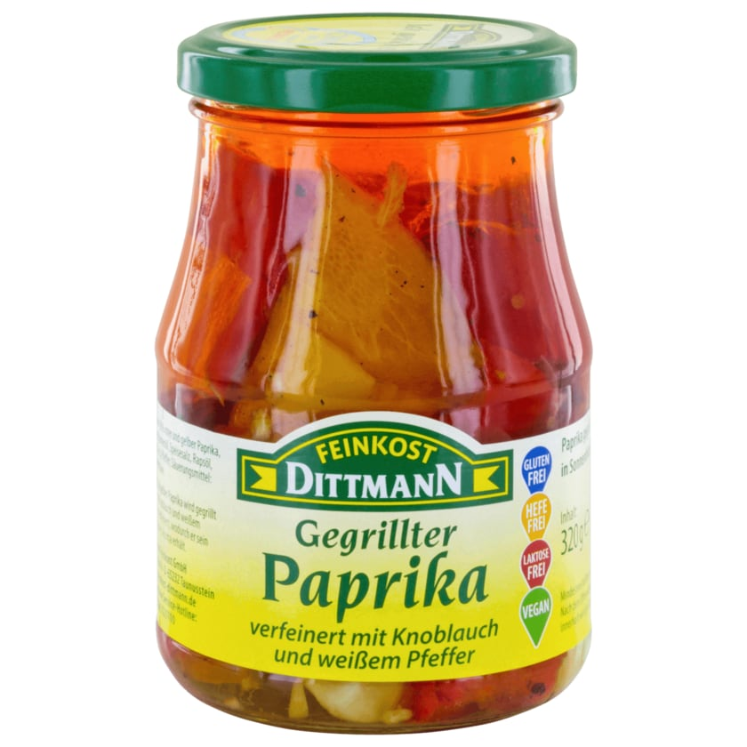 Feinkost Dittmann Gegrillter Paprika 320g