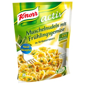 Knorr Activ Muschelnudeln mit Frühlingsgemüse 157g