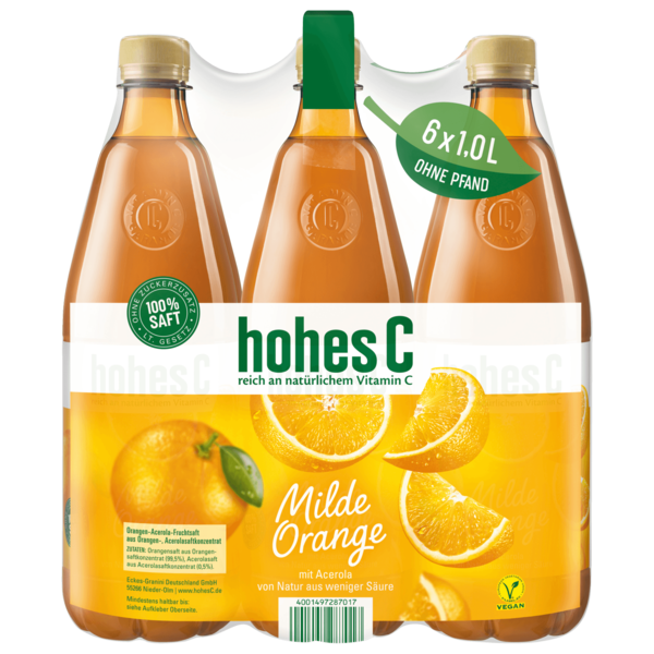 Hohes C Milde Orange 6x1l