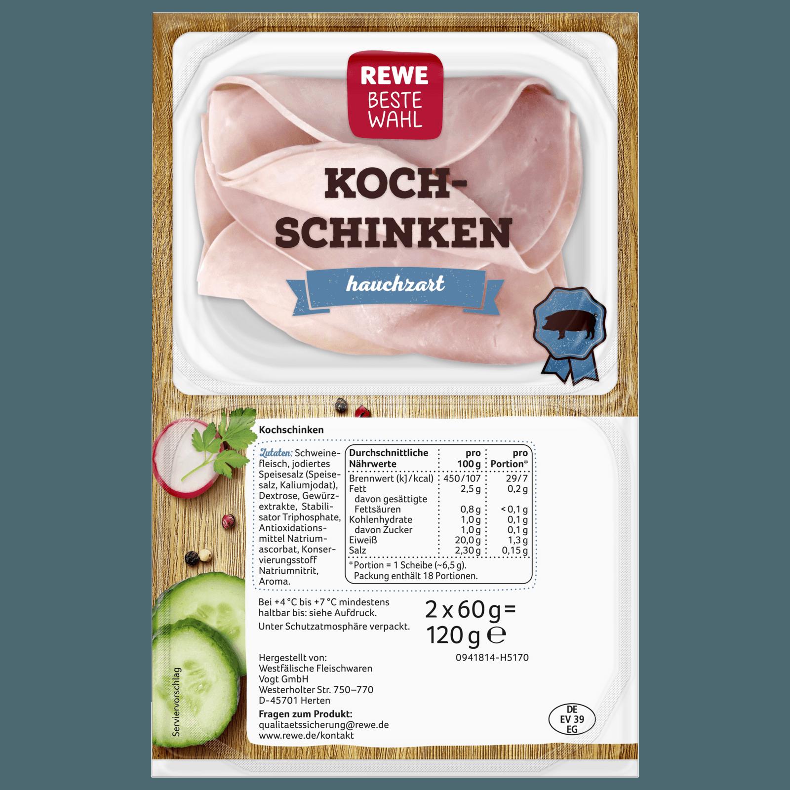 REWE Beste Wahl Kochschinken hauchzart 2x60g