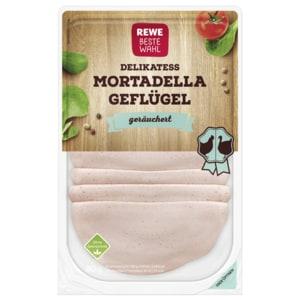 REWE Beste Wahl Geflügel-Mortadella mit Rapsöl 80g