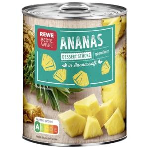 REWE Beste Wahl Ananas Dessertstücke gezuckert 340g