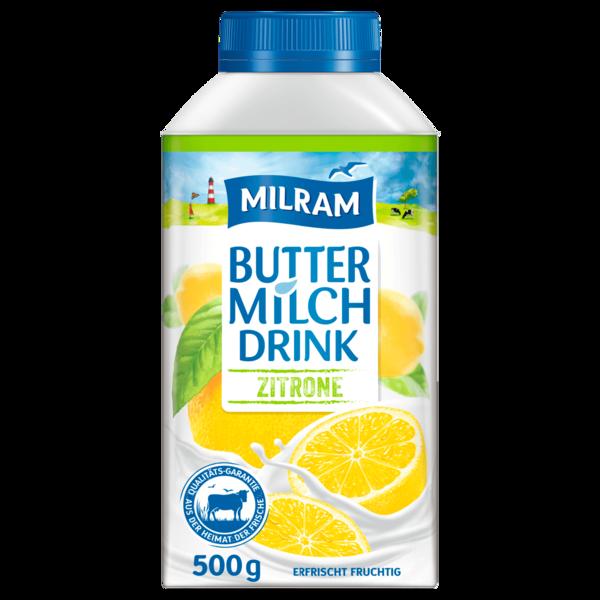 Milram Buttermilch-Drink Zitrone 500g