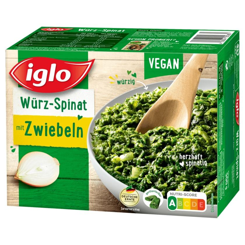 Iglo Würzspinat mit Zwiebeln 500g