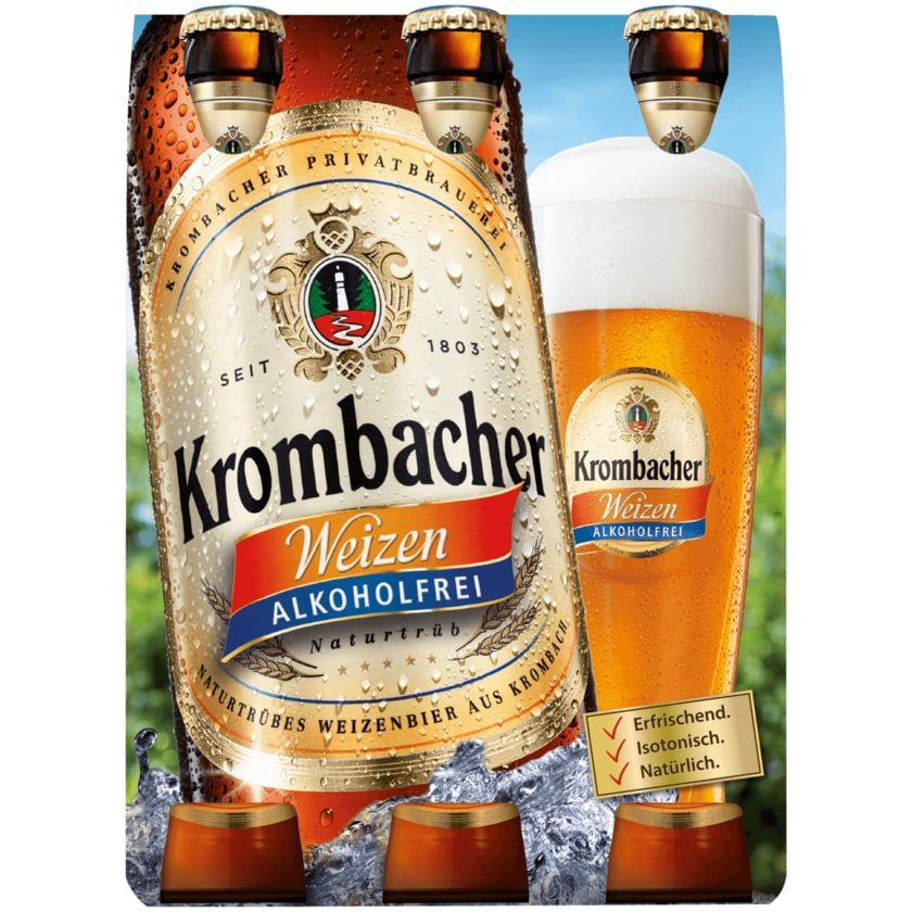 Krombacher Weizen alkoholfrei 6x0,33l